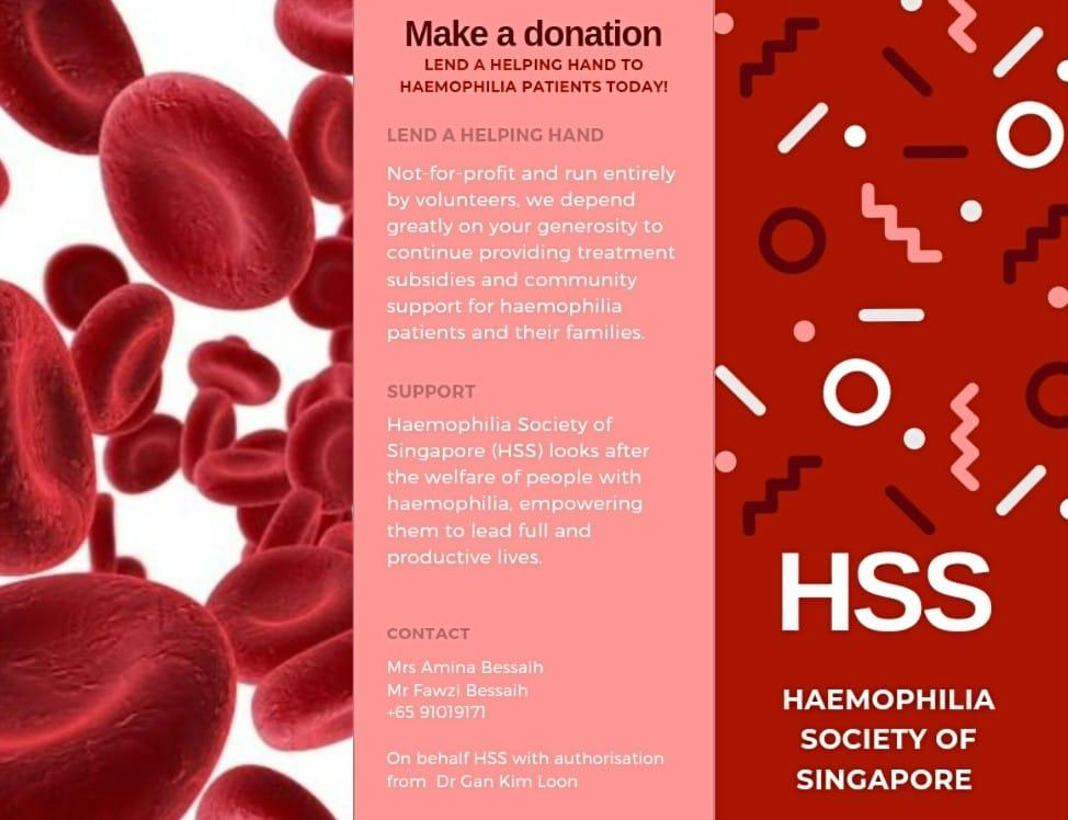 Lend a helping hand to Haemophilia, giving.sg campaign
